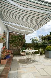 4.0m  Toldo Semi-Cofre Manual de Color Cafe Du Jardin Verde