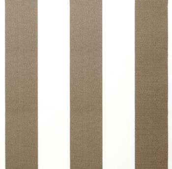 Lona de repuesto rayas marrones y blancas en poli ster con for Lona repuesto toldo