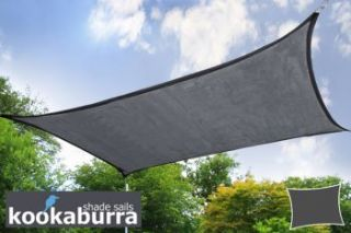 Toldos Vela Kookaburra® Carbón Rectangular 3.0mx2.0m (Transpirable)