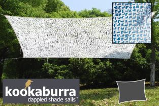 Toldo Vela Red Decorativa Kookaburra 3m x 2m Rectangular Blanco Polar