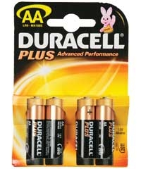 4 pilas Duracell 'Plus' AA