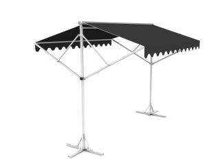 Toldo Doble 5.0m color Charcoal