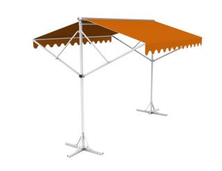 Toldo Doble 5.0m color Terracota