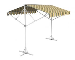 Toldo Doble 5.0m color Rayas Amarillas y Grises