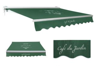 2.5m Toldo Semi-Cofre Manual de Color Cafe Du Jardin Verde
