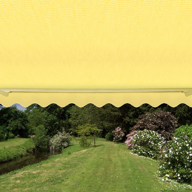 1.5m Toldo Estándar Manual de Color Amarillo Limón