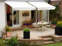 2.5m Toldo de Cofre Manual, de Color Marfil