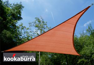 Toldos Vela Kookaburra® Terracota Triangular 5.0m (Transpirable)