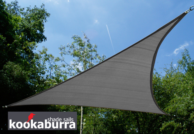 Toldos Vela Kookaburra Carbón  Triangular 5.0m (Transpirable)