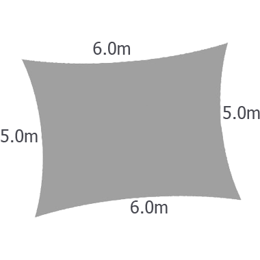 Rectangular 6.0mx5.0