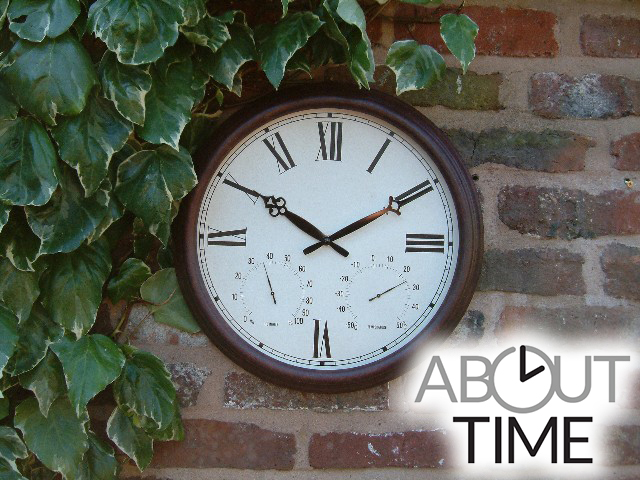 Reloj de Jardín Color Teja Antigua - 38cm - About Time™