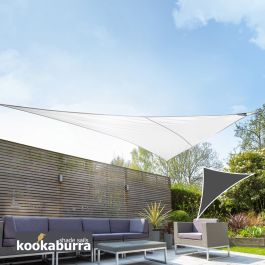 Toldos Vela Kookaburra® Blanco Polar Triangular 4.2mx4.2mx6.0m (Transpirable)