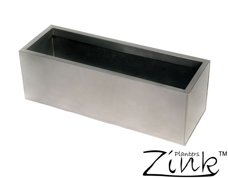 Maceta de Zinc Rectangular - Mediana