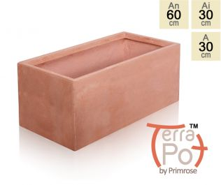 Macetero Rectangular Efecto Terracota - Mediano