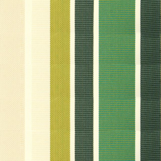 Lona de repuesto rayas verdes en acr lico con fald n para for Lona repuesto toldo