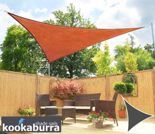 Toldos Vela Kookaburra® Terracotta Triangular 4.2mx4.2mx6.0m (Transpirable)