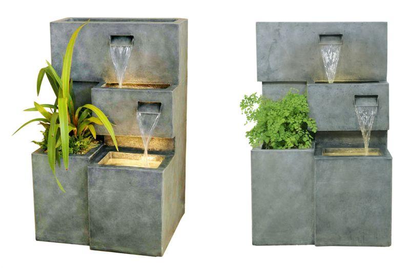 fuente cubos en cascada de agua con luz 299 99. Black Bedroom Furniture Sets. Home Design Ideas