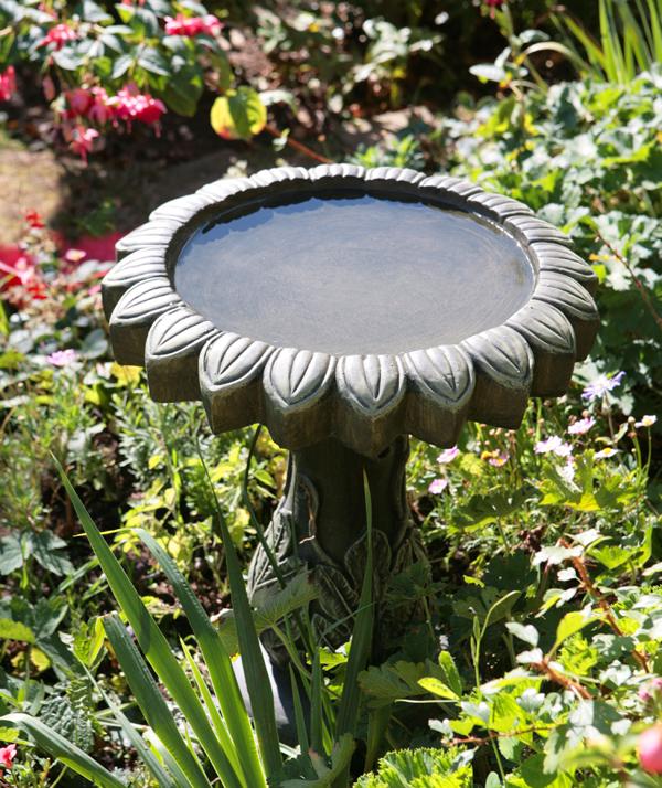Bebedero de p jaros alpino 55cm 79 99 for Bebederos para aves jardin