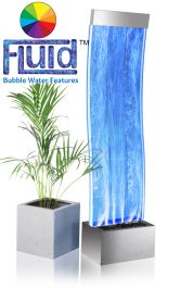 Pared de Agua Curva Aries con Burbujas y Luces - 150cm